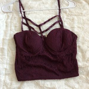 Charlotte Russe Crop Top Sexy purple